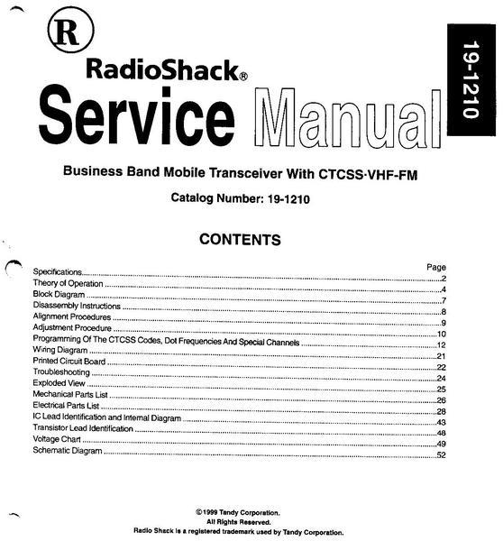 eham net classifieds service manual for radio shack 19 1210 rh eham net radio shack dx-394 service manual radio shack service manual for 63-1023