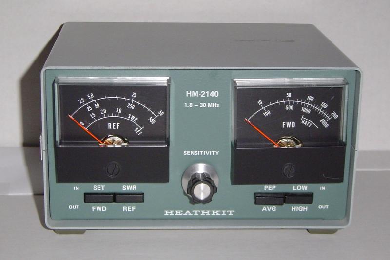 Wattmeter hm-2140a amateur-d heathkit brand, heath co. ; bent.