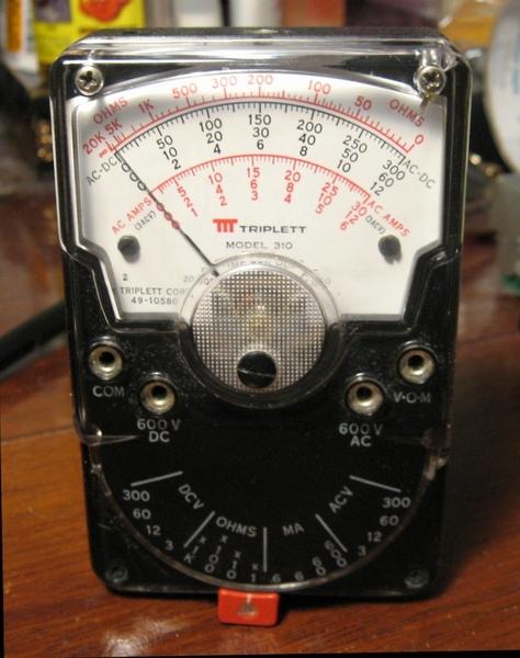 Triplett Analog Multimeter : Triplett volt ohm meter bing images