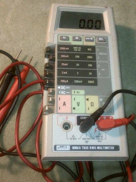 eham net classifieds fluke 8060a multimeter 1000v model rh eham net Fluke Instruction Manual Fluke 179 User Manual