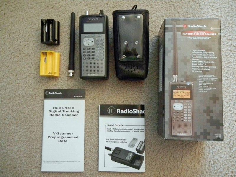 eham net classifieds rs pro 106 w case usb cable and arc 500 275 rh eham net Radio Shack Digital Scanners radio shack pro 106 digital scanner manual