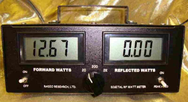 eHam net Classifieds RADIO RESEARCH LTD DIGITAL WATT METER