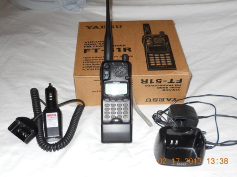 Продаётся редкая 2-диапазонная портативная fm радиостанция yaesu ft-51r, 144/430 мгц