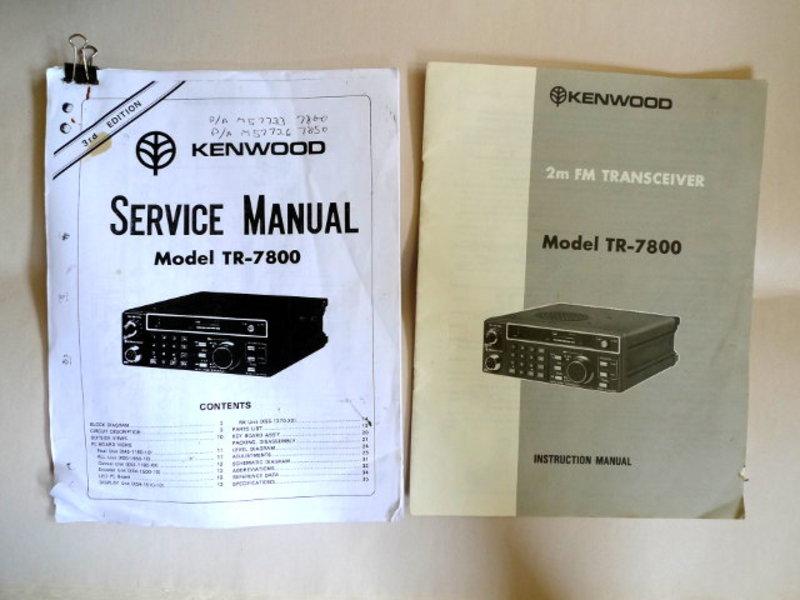 tr 7800 service manual